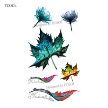 TCOOL Flower Temporary Tattoos for Women Hand Tattoo Sticker Fashion Men Adult Body Art Waterproof Arm Fake Tatoo 10.5X6cm P-021