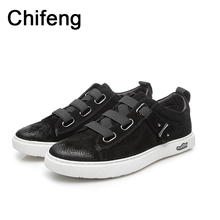 Men's casual shoes genuine leather mens loafers for men Breathable autumn 2017 fall new fashion man Flat shoe designer brand