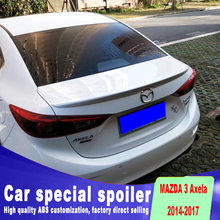 Pressure high quality 3 spoiler for 2014 to 2017 up primer or black white color mazda spoilers streamline Spoiler plate