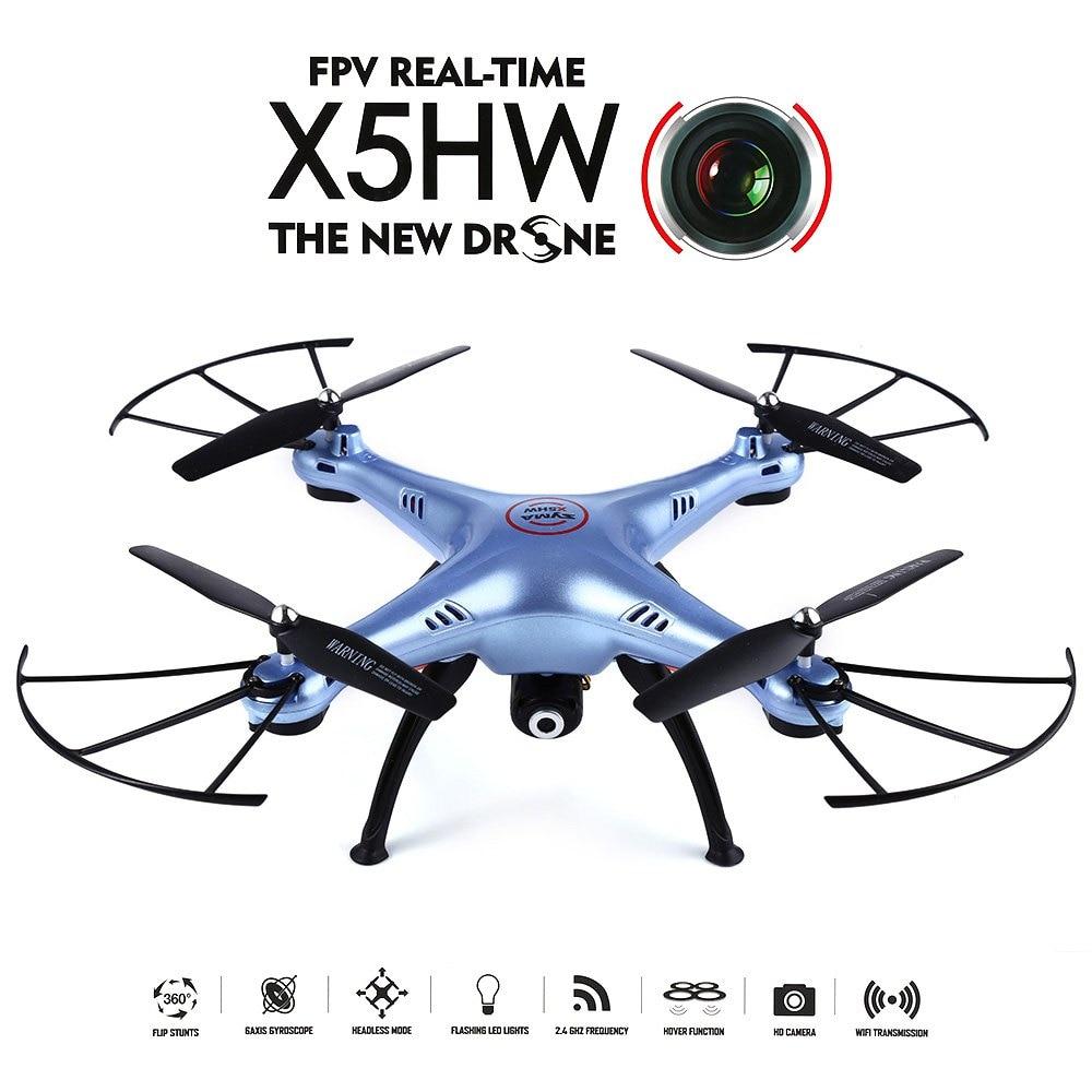 syma x5hw wifi fpv 0 3 mega pixel camera 2 4g 4 channel 6 axis gyro quadcopter rtf High Quality Racing Quadcopter Syma X5HW WiFi FPV HD 0.3MP CAM 2.4GHz 4CH 6 Axis Gyro Quadcopter RTF Night Flight Mini Drone Toy