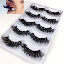 NEW 5 Pairs/Pack Real 3D Mink Fake Eyelashes False Eyelashes Mink Lashes Soft Natural Eyelash Extension Lashes Makeup Cilios