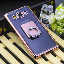 Ringcall For Samsung Galaxy A3 A5 A7 2015 2016 2017 A310F A510F A710F Royal Luxury Gilded Plating Cover Ring Buckle Support Case