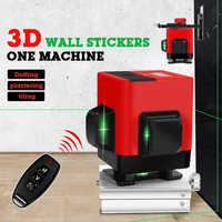 12 lijnen 3D Niveau Zelfnivellerende 360 Horizontale En Verticale croix Super Krachtige Groene Laser faisceau Lijn Zijwand gebruik