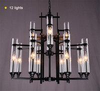 100 240V Nordic Modern Creative Art Decor Lustre Hanging Lighting Industry Vintage Wrought Iron Metal Candle