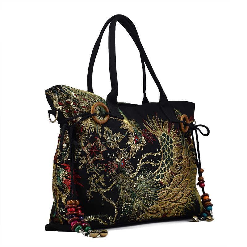 Национальные характеристики сумки на плечо для женщин 2018 холщовая женская сумка с вышивкой модная сумка через плечо для отдыха сумка bolsa