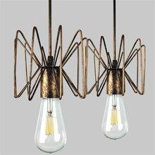 Lámpara colgante clásica Loft estilo araña de hierro iluminación del hogar sala de estar habitación de hierro accesorio de luz de suspensión E27 lámparas Base