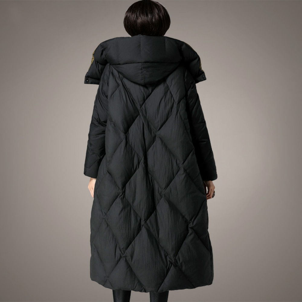 Plus Size 3XL 2017 Winter Womens Jackets Duck Down Filling X-Long Thickening Female Coats Hood Warm Parka High Quality Clothes
