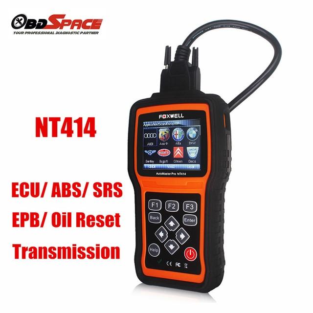 2017 Диагностический Инструмент Подушка Безопасности FOXWELL NT414 Автомобильный Диагностический Сканер ECU ECM ABS SRS Подушка Безопасности Передачи Лучшего AUTEL MD802