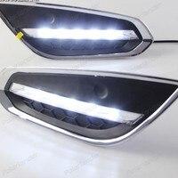1 pair headlight fog lamps Car styling for V/olvo S60 V60 2009 2013 daytime running lghts
