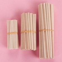 50 pçs pinho redondo varas de madeira contando varas brinquedos educativos premium durável passador modelo de construção carpintaria artesanato diy