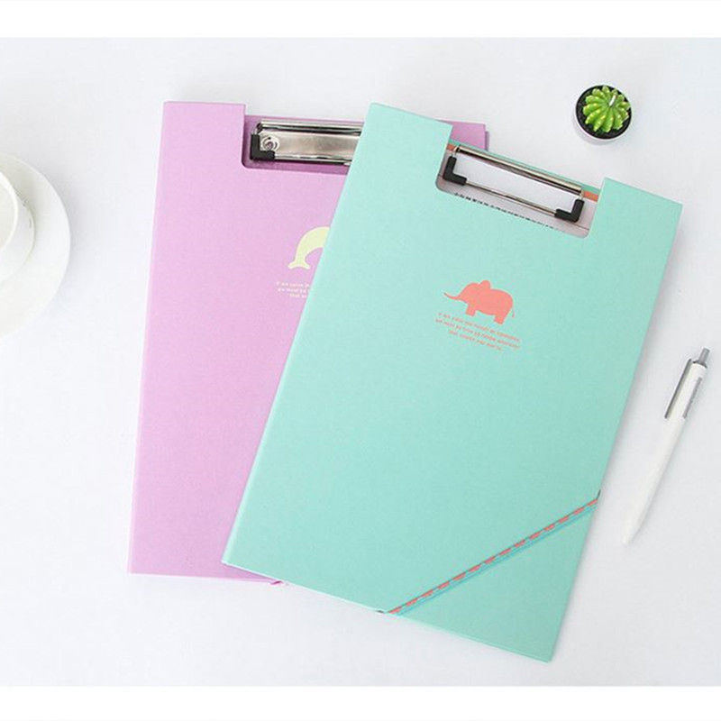 Coloffice 1PC Candy Color Filing Production Folder Multi-Function Clip File Document File Folder WordPad Clipboard School Office coloffice 1pcs cartoon cute flamingo filing production 20 sheets expanding folder multi function clip file document file folders