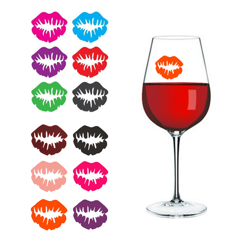 for Party and Bar Silicone Glass Markers Set of 8