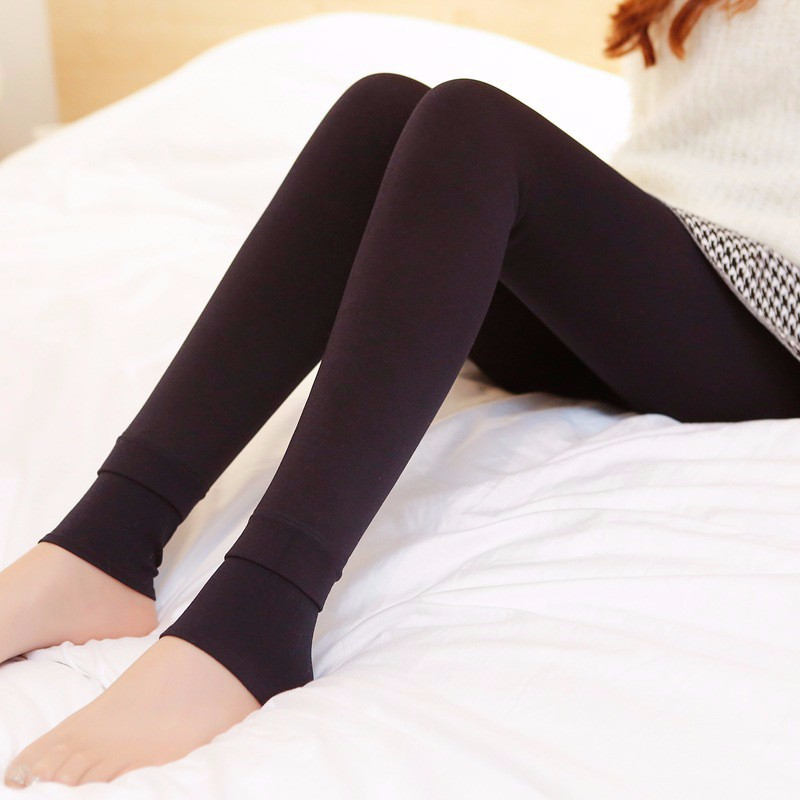 Rooftrellen Hot New Fashion Women's Autumn And Winter High Elasticity And Good Quality Thick Velvet Pants Warm Leggings 41