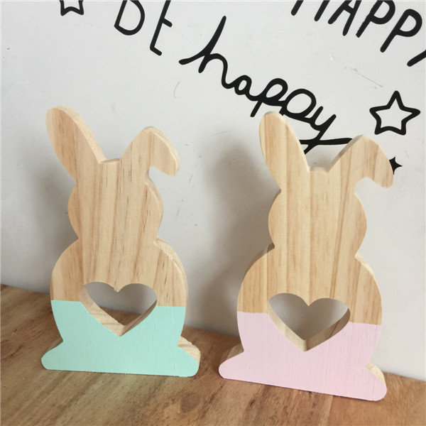Rabbit Block Creative Board DIY Hollow Star Wood Home Table Toy Room decoration Nordic INS props Toy Kids Christmas Gift Model christmas snowman toy kids gift star shape candy jar