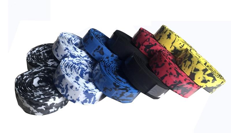 V/élo V/élo Guidon Tape Camouflage Poign/ée De V/élo Ceinture en Li/ège avec Barre Bouchons Accessoires V/élo Noir /& Rouge