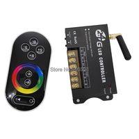 DC5-24V 8A * 3CH 24A RGB LED Denetleyici RF201 ile 2.4 GHz RF Dokunmatik Uzaktan Kumanda 5050 veya 3528SMD RGB LED şeritler