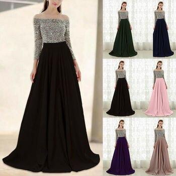 9b46383177b Элегантный Для женщин платья с открытыми плечами