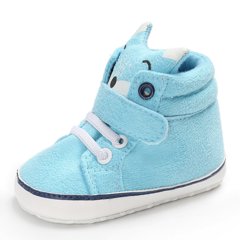 New Style Newborn Baby Shoes Infant Shoes Spring Autumn Baby First Walker Fox Soft Bottom Boy Toddler Warm Shoes 913140