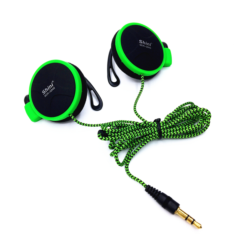 Shini earphones 3.5mm Headset EarHook Earphone For Mp3 Player Computer Mobile Telephone Earphone Wholesale Free Shipping