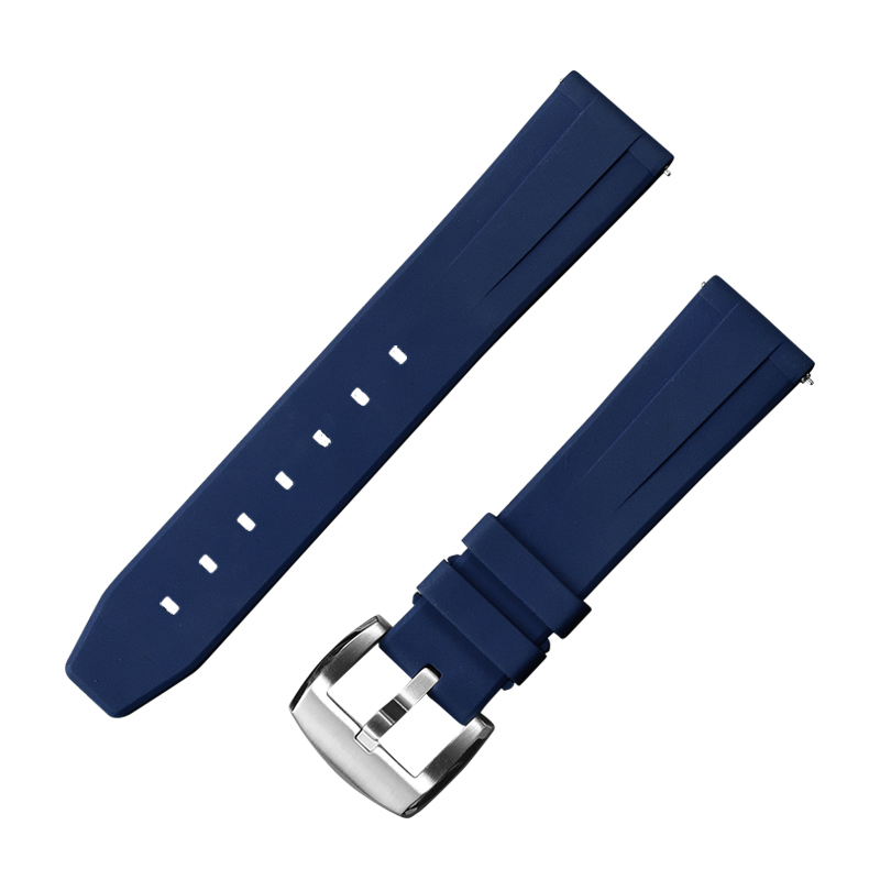 San Martin High Quality Watch Rubber Strap Fluorine rubber strap 8 color 22mm 20mm wide Universal replacement strap with buckle