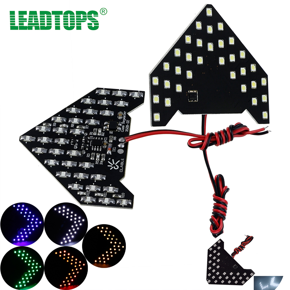 LEADTOPS Car Side Mirror Turn Signal 33 LED 4PCS/Lot!! SMD Sequential Led Lights Arrows Indicator Safe led Panels For Mazda CE new arrows lamp indicator safe panels car side mirror turn light for ford fusion gt ka kuga maverick mondeo st mustang taurus x