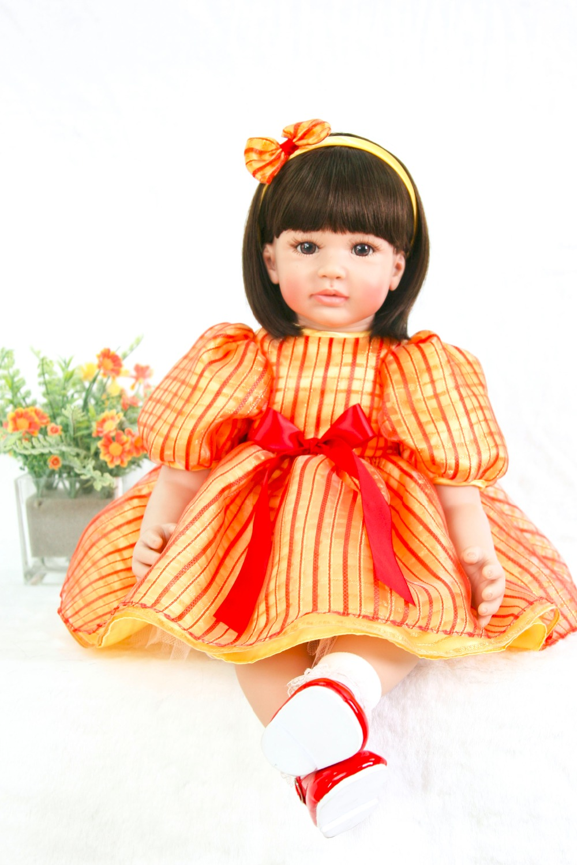 NPK grande poupée 60 cm Silicone Reborn Boneca doux tissu corps bébé poupées à vendre princesse enfants cadeau d'anniversaire Bebes Reborn poupées