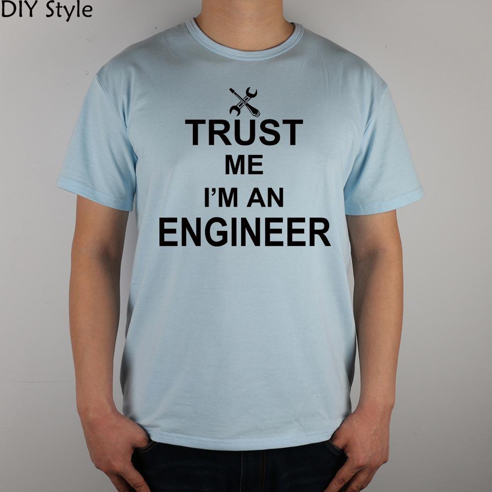 TRUST ME OI AM A INGINEER Camiseta Top Lycra Cotton Men camiseta - Ropa de hombre - foto 4