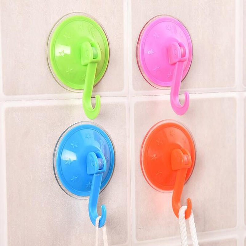 Sale 1Pc Plastic Bathroom Kitchen Wall Strong Suction Cup Hook Hangers Vacuum Sucker Clear