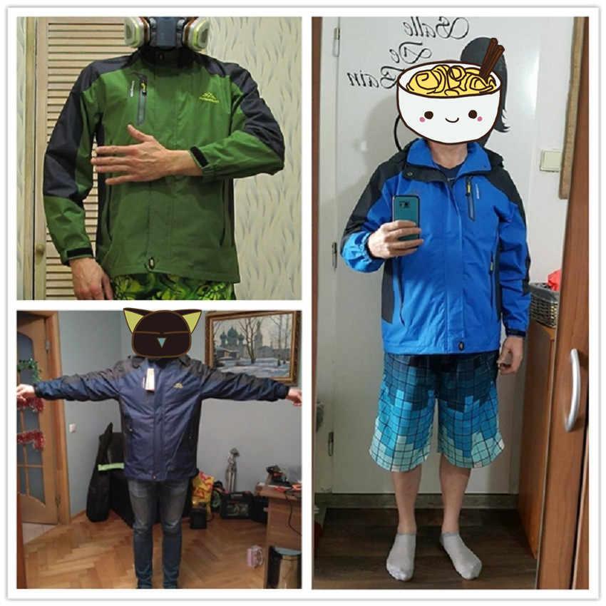 春の新作秋メンズソフトシェルハイキングジャケット男性屋外キャンプコートウインドブレーカートレッキングレインコート服スポーツジャケット