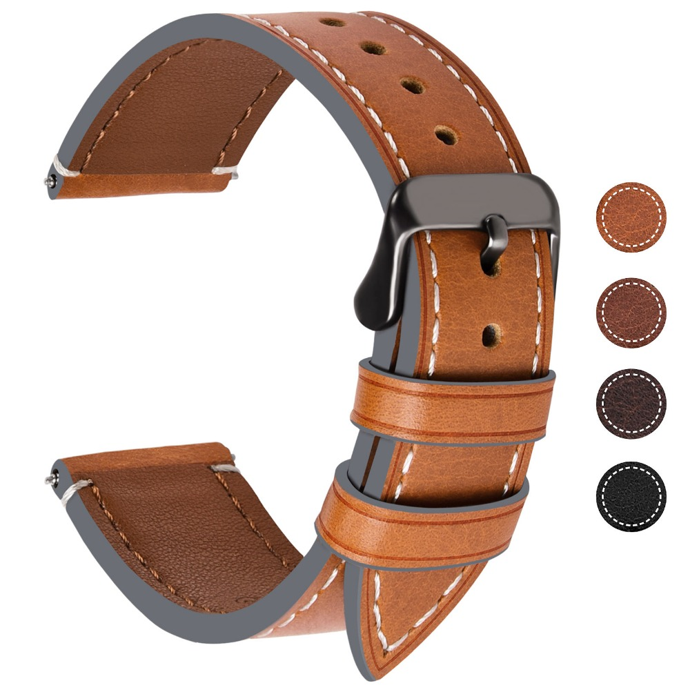 9 Color Genuine Watch Band for Smart Watch Band Fullmosa Watch Band Replacement Strap Wristband 18mm, 20mm, 22mm, 24mm Brown imperia music band 2018 05 24t20 00