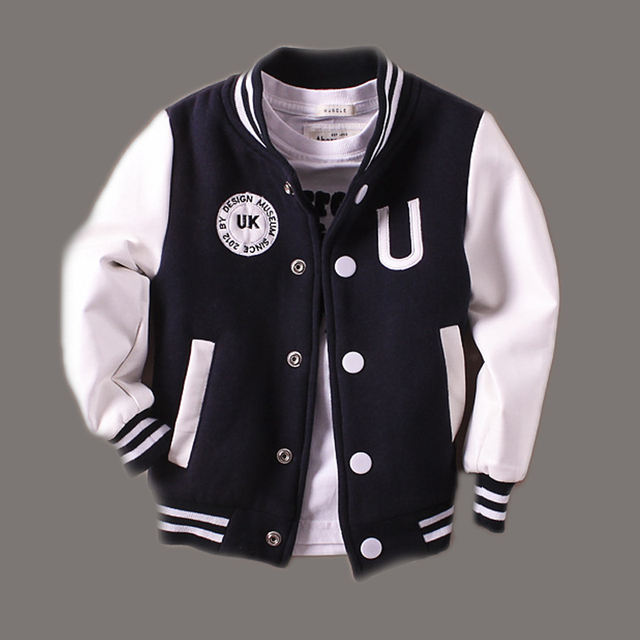 2-14T Baby Boy Clothes Boys Jacket 2017  Spring Letter Boys Outwear For Children Brand Kids Coats For Boys Baseball Sweatershirt