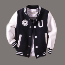 New Boys Winter Jacket 2015 Spring Letter Jackets Outwear For Children Brand Kids Coats Baseball Sweatershirt