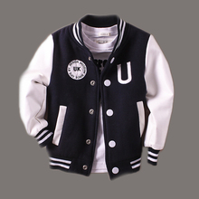 2-14T Baby Boy Clothes Boys Jacket 2016 Spring Letter Boys Outwear For Children Brand Kids Coats For Boys Baseball Sweatershirt