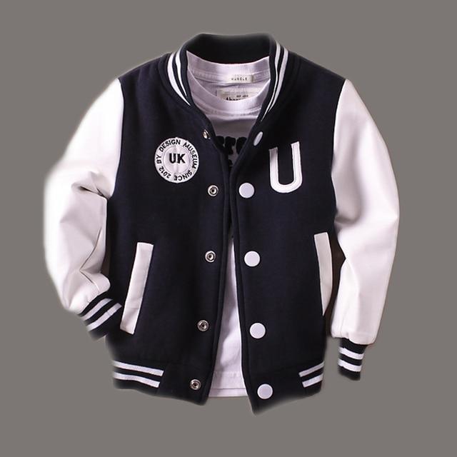 2-T 14 t ropa de bebé niño chaqueta de cuero primavera letras niños Outwear 948b0f8bd90