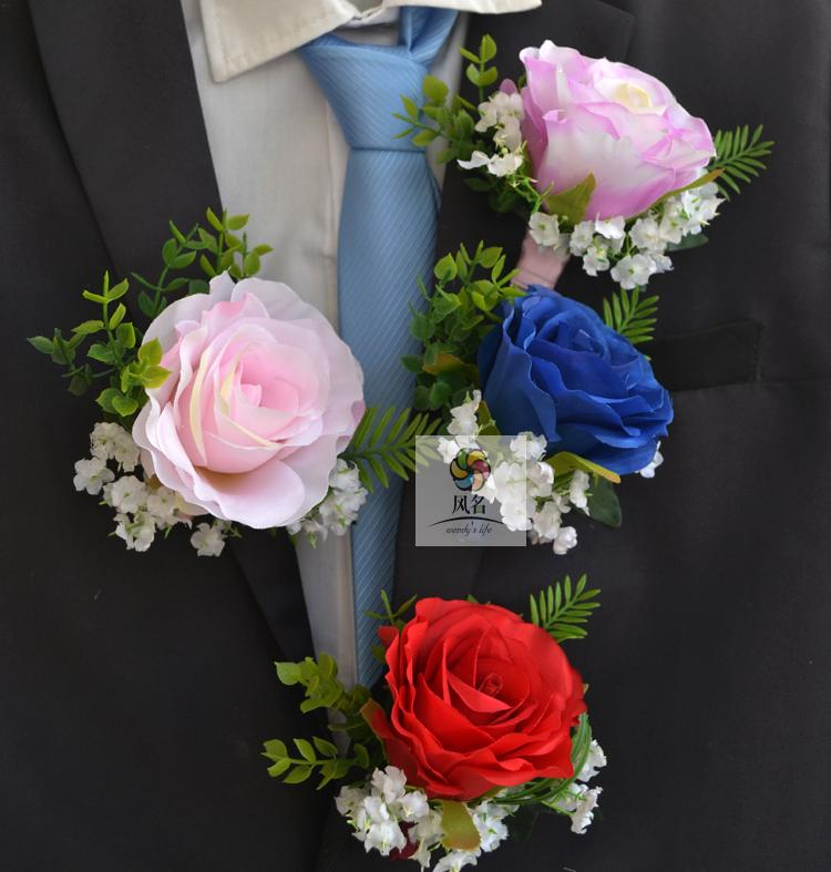 popular blue prom corsagesbuy cheap blue prom corsages lots from, Natural flower