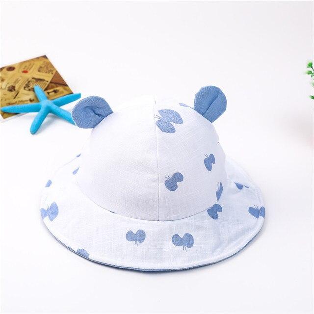 3e13c77f38b Baby Toddler Sun Hats Cute Ear Bucket Hat Butterfly Printed Fisherman Cap  Infant Girls Boys Summer Beach Caps