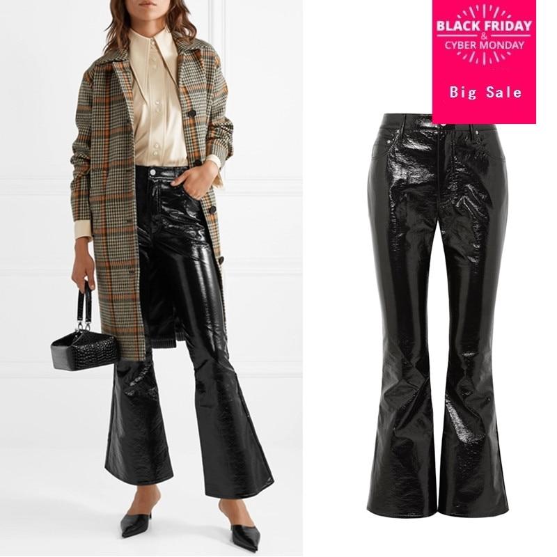 9907afd6d0c Marca-de-moda-bajo-la-cintura-de-cuero-de-la-PU-flare-Pantalones-mujer-punk- de.jpg