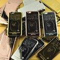 Japonês macaco bape hot telefone shell para apple's 6 6 splus ouro 6 s 7 7 além de luxo mobile phone capa case para iphone 7 7 plus 6 splus