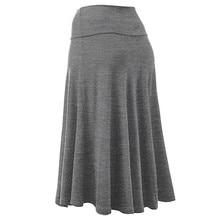 Plus Size XXXL 2018 Fashion Women Skirts Vestidos 4 Color Solid Flare Hem High Waist Midi Sexy Uniform Pleated Skirt A10 AU10