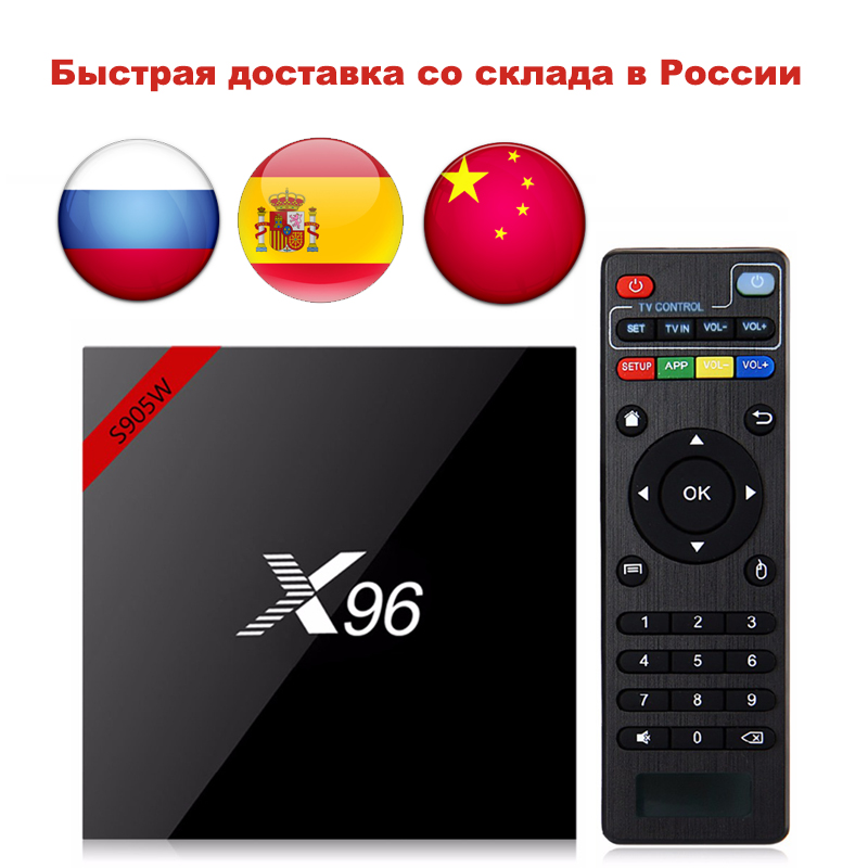 Date X96 X96W Smart TV Box Android 7.1 Bluetooth 4.0 Amlogic S905W 1g/8g 2g/ 16g 2.4 ghz WiFi HD Quad Core 4 k Mini Boîte