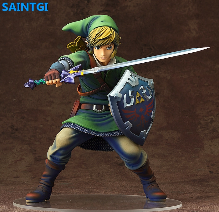SAINTGI The Legend of Zelda Link The Wind Waker Action Figure Game toys PVC 10CM Model kids toys Collection anime the legend of zelda 2 a link between worlds link figma 284 pvc action figure collectible model kids toys doll 10 5cm