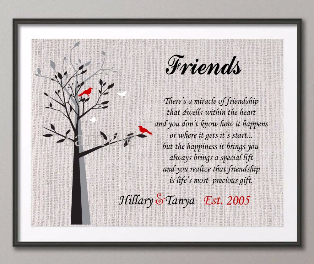 Personalized special friend gift family tree quote wall art poster personalized special friend gift family tree quote wall art poster print pictures canvas painting home decoration wedding gifts in painting calligraphy thecheapjerseys Images