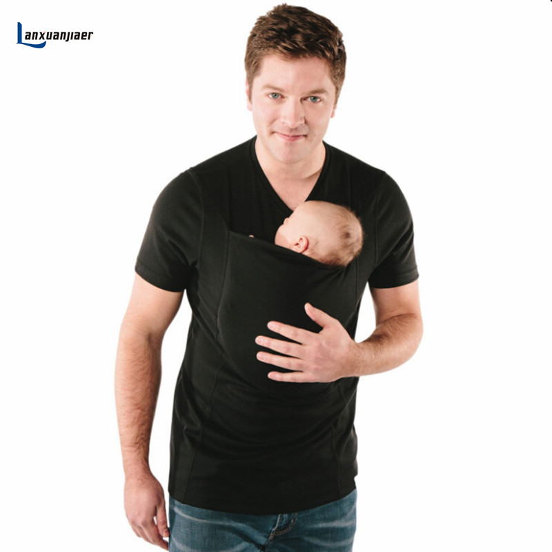 Lanxuanjiaer Parenting Baby Carrier Father Kangaroo t shirt Maternity Outerwear For Pregnant Women Pregnancy Baby Wear