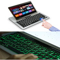 New Arrival Ultra-thin Aluminum 7 Colors Backlit Bluetooth Keyboard Stand For iPad Air2/Pro9.7/S7 Edge July 01