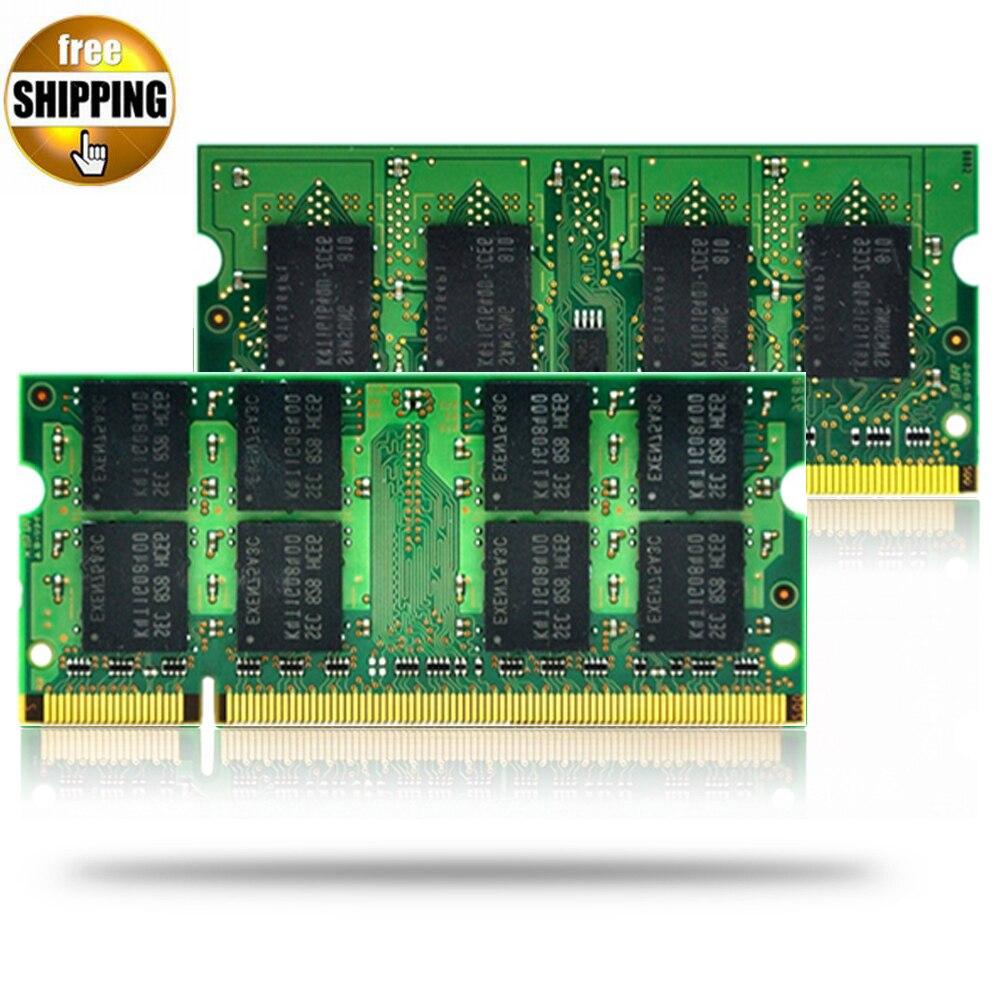 JZL Ordinateur Portable Module de Mémoire Ram SDRAM DDR2 533 667 800 MHz 200PIN 2 GB SO-DIMM/DDR 2 PC2 4200 5300 6400 Ordinateur Portable Sodimm