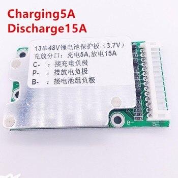 E Motor de la batería 13 S 48 V BMS 40A 18650 de protección de la batería de iones de litio del teléfono celular de la PCB placa de equilibrio