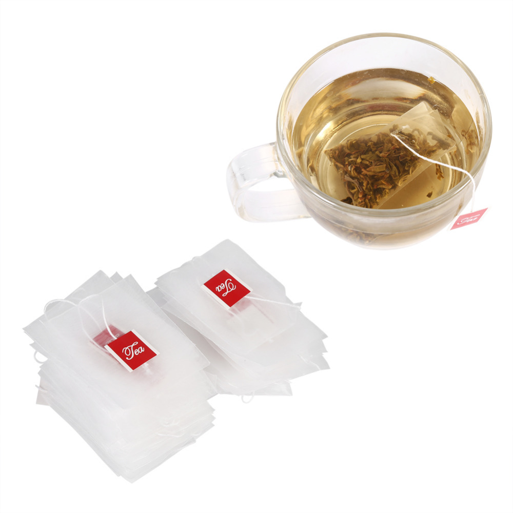 Empty Nylon Tea Bags With String Heat Seal Filter Paper Herb Loose Disposable Tea Bags Tea infuser Strainer