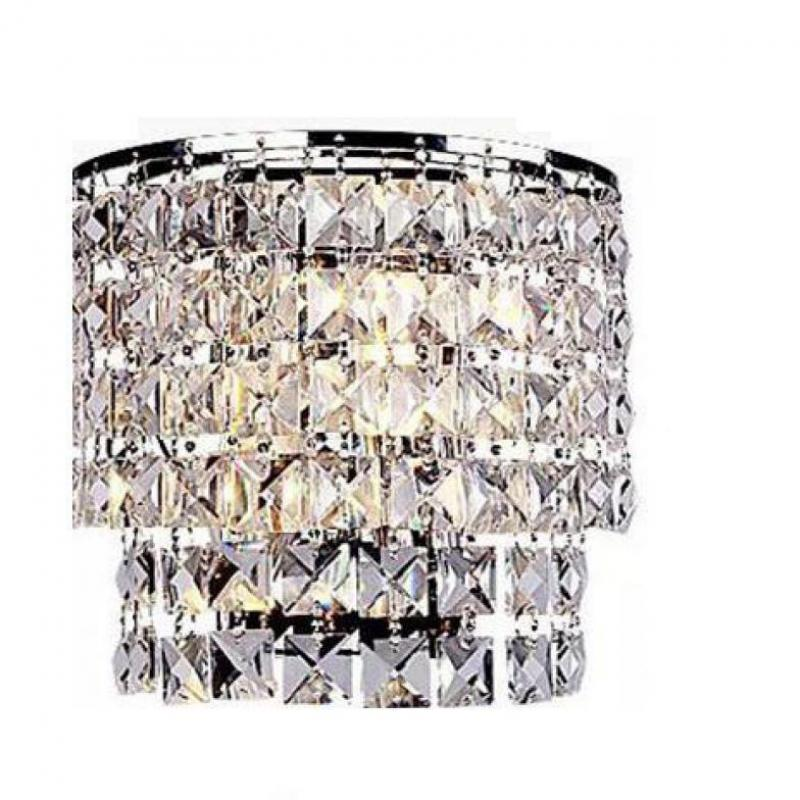 Modern Indoor Crystal Wall Lamp Sconce Lighting Fixture ... on Modern Indoor Wall Sconce id=79829