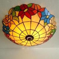 Простой цветок красивый Европейский Средиземноморский потолочный светильник освещения светодиодный спальня шкафчик коридор балкон спаль