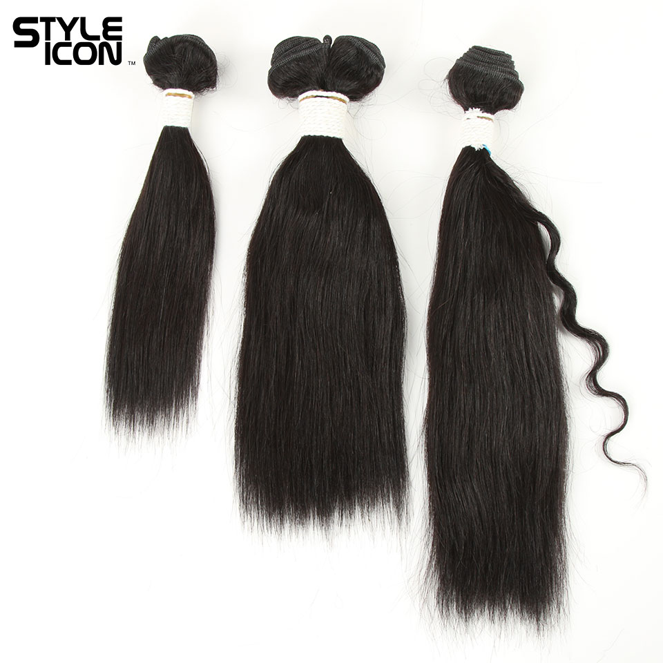 Styleicon Hair Weaving 4 Pieces A Lot Brazilian Wet And Wavy Human Hair Extensions For Sewing 160 Totally Easily To Be Styled